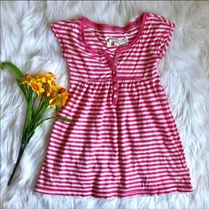 Abercrombie Pink White Striped Babydoll Shirt S